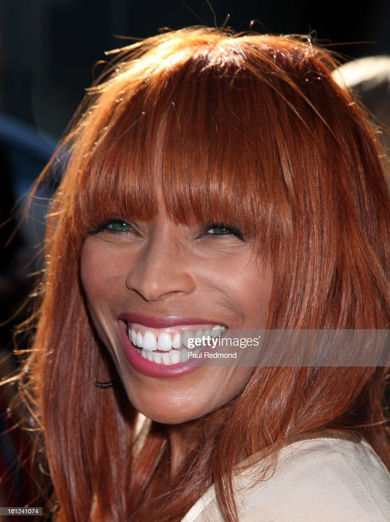Kim English, widow of The Temptations singer Melvin Franklin, arrives at the Recording Academy Special Merit Awards Ceremony at The Wilshire Ebell Theatre on February 9, 2013 in Los Angeles, California.