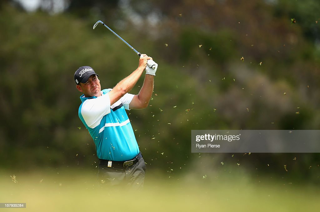 Kim Felton of Australia hits a fairway shot during round three of the 2012 Australian Open at The Lakes Golf Club on December 8, 2012 in Sydney, Australia.