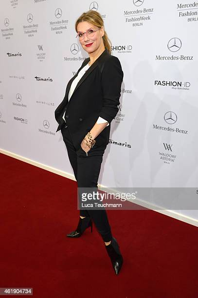Kim Fischer attends the Guido Maria Kretschmer show during the MercedesBenz Fashion Week Berlin Autumn/Winter 2015/16 at Brandenburg Gate on January...