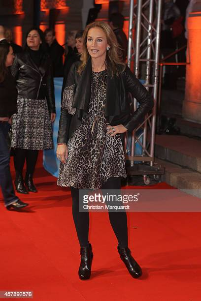 Kim Fischer attends the 'Mamma Mia' Musical Premiere on October 26 2014 in Berlin Germany