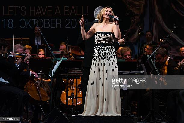 Kim Fischer performs at the Opera Ball Leipzig at Opernhaus on October 18 2014 in Leipzig Germany