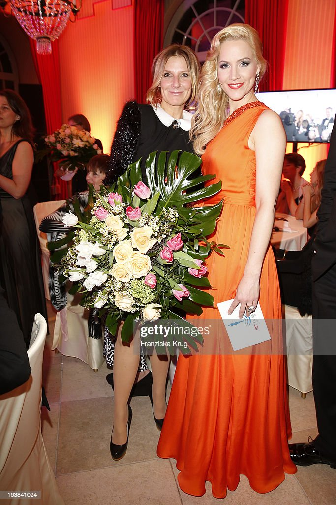 Kim Fisher and Judith Rakers attend the Gala Spa Award 2013 at the Brenners Park Hotel on March 16, 2013 in Berlin, Germany.