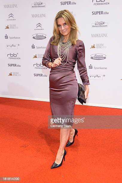 Kim Fisher arrives for the Goldene Henne 2013 award at Stage Theater on September 25 2013 in Berlin Germany