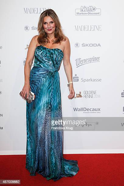 Kim Fisher attends Madeleine at Goldene Henne 2014 on October 10 2014 in Leipzig Germany