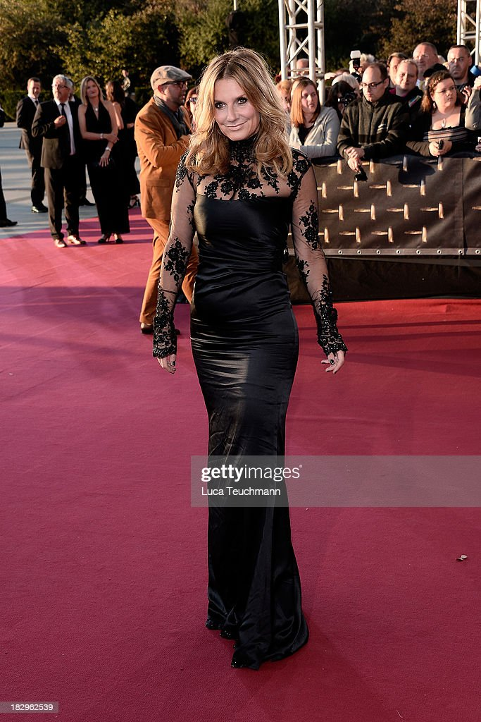 Kim Fisher attends the Deutscher Fernsehpreis 2013 at the Coloneum on October 2, 2013 in Cologne, Germany.