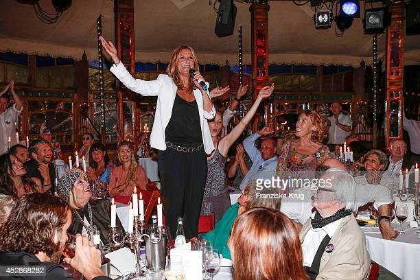 Kim Fisher attends the Udo Walz Celebrates His 70th Birthday at BAR jeder Vernunft on July 28 2014 in Berlin Germany