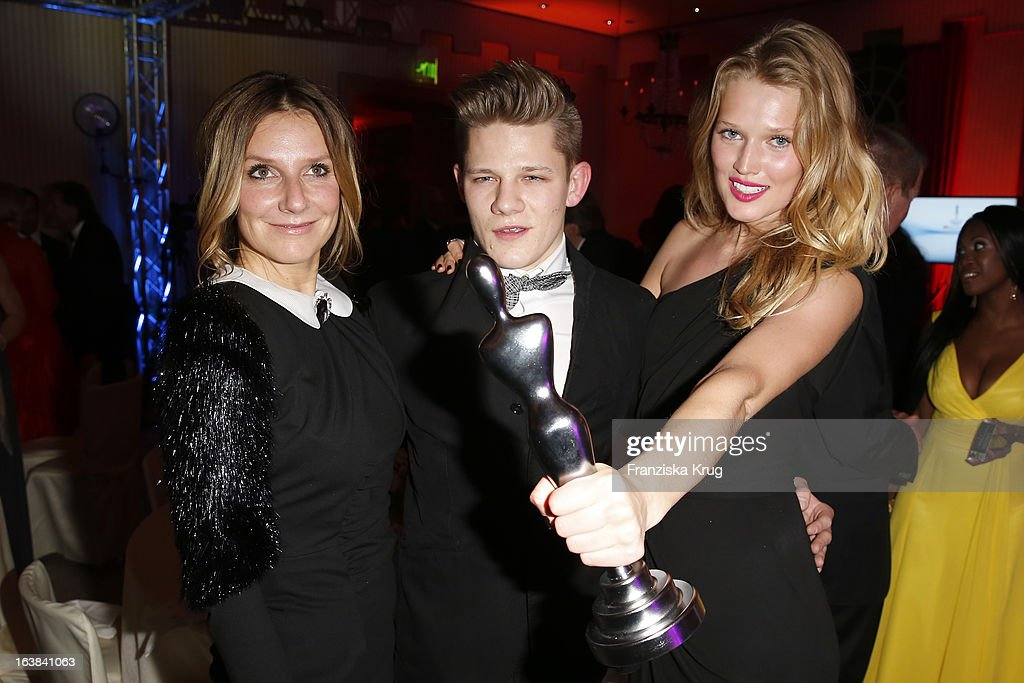 Kim Fisher, Toni Garrn and Max von der Groeben attend the Gala Spa Award 2013 at the Brenners Park Hotel on March 16, 2013 in Berlin, Germany.