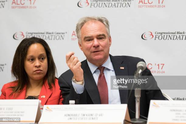 Kim Ford Acting Assistant Secretary/DAS Office of Career Technical and Adult Education US Department of Education and Senator Tim Kaine CoChair...