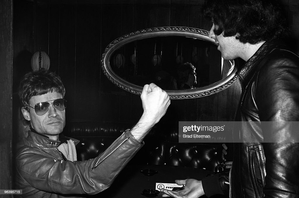 Kim Fowley, the producer of The Runaways with Harold Bronson at The Whiskey A Go Go in Los Angeles, California. **EXCLUSIVE**