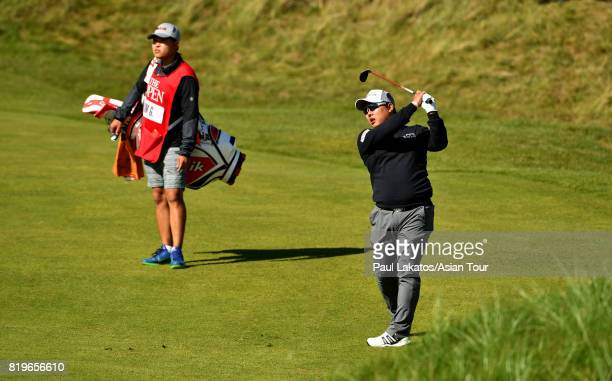 Kim Giwhan of Korea plays a shot on the 6th hole at Royal Birkdale on July 20 2017 in Southport England