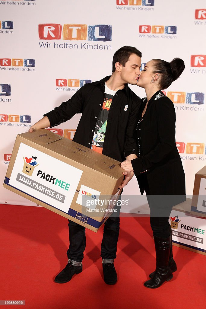 Kim Gloss and Rocco Stark attend the 'RTL Spendenmarathon' at RTL Studio Huerth on November 22, 2012 in Cologne, Germany.