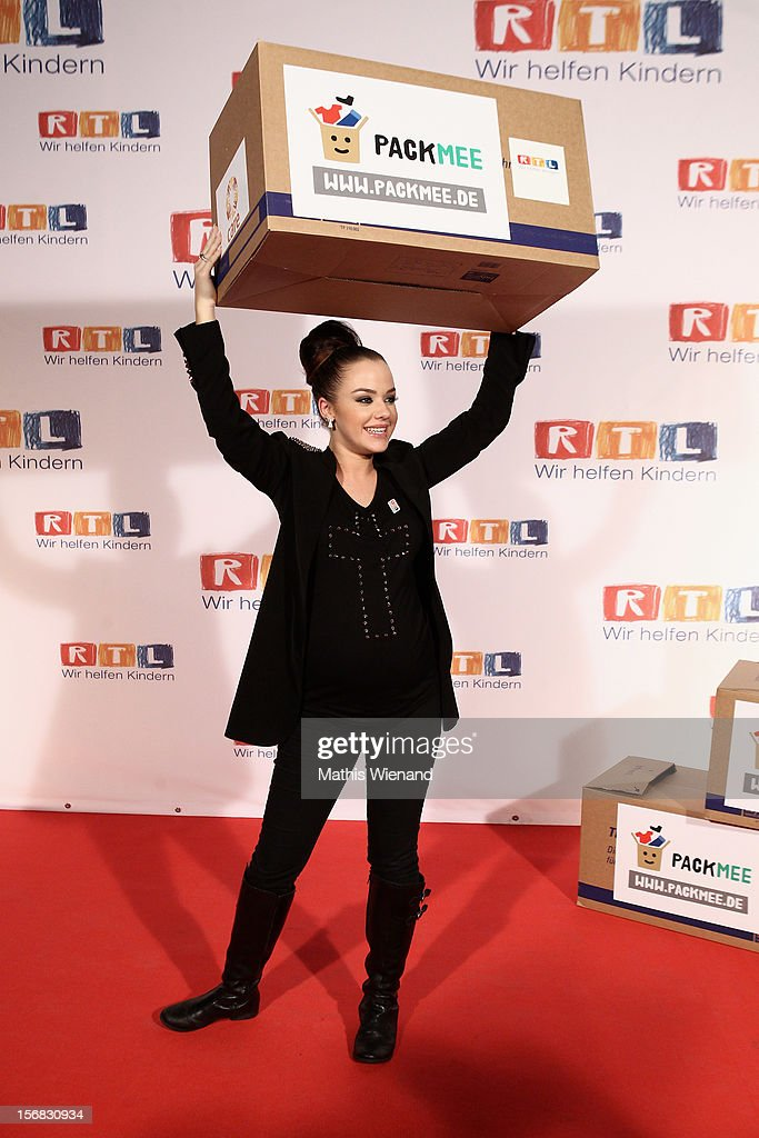 Kim Gloss attends at the 'RTL Spendenmarathon' at RTL Studio Huerth on November 22, 2012 in Cologne, Germany.