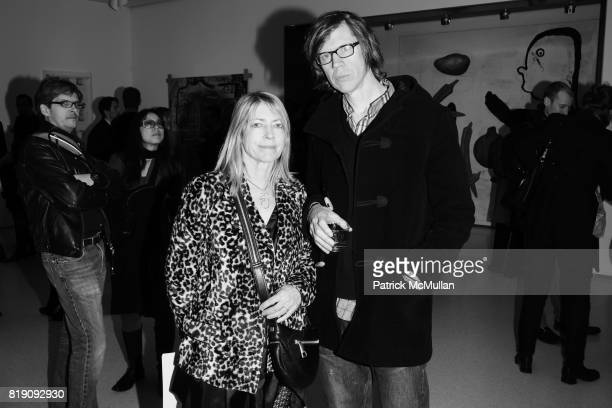 Kim Gordon and Thurston Moore attend HAUNCH OF VENISON 'Your History is Not Our History' Opening Night at Haunch of Venison on March 5 2010 in New...