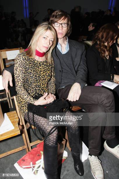 Kim Gordon and Thurston Moore attend RODARTE Fall 2010 Collection at Gagosian Gallery on February 16 2010 in New York City