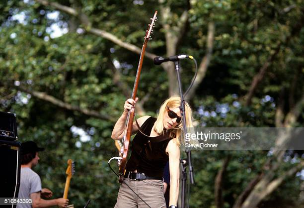 Kim Gordon of Sonic Youth performs at Central Park SummerStage New York July 4 1992