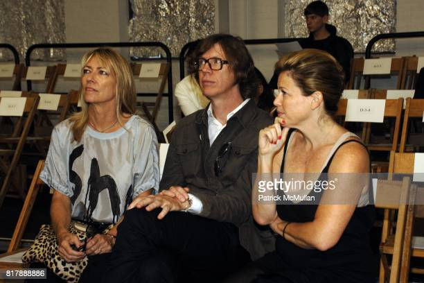 Kim Gordon Thurston Moore and attend RODARTE Spring 2011 Fashion Show at 548 W 22nd St on September 14 2010 in New York City