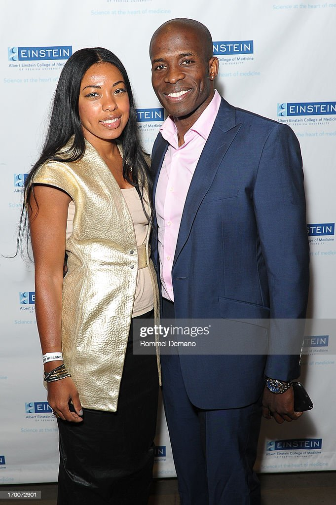 Kim Guy and Godfrey attend the Einstein Emerging Leaders 2nd Annual Gala at Dream Downtown on June 6, 2013 in New York City.