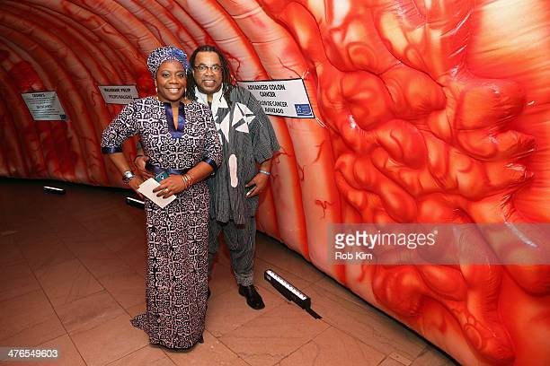 Kim Hall Jackson and Jeffrey Jackson attend One Million StrongColorectal Cancer Awareness at Grand Central Terminal on March 3 2014 in New York City