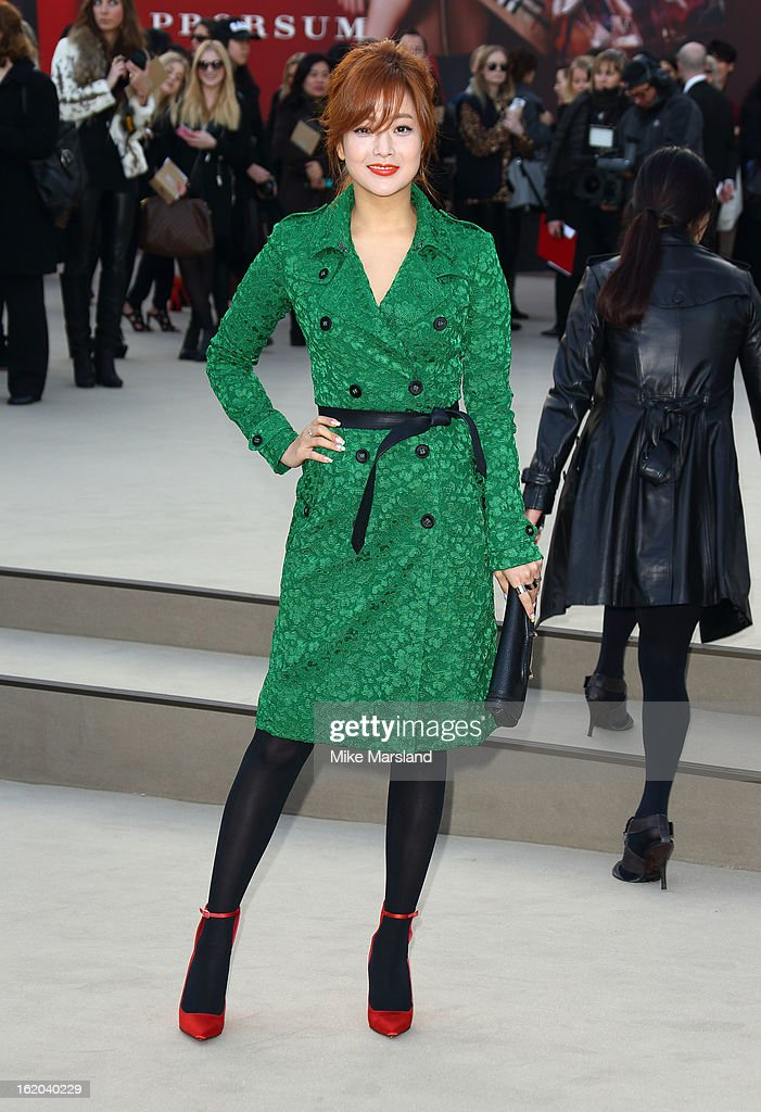 Kim Hee Sun attends the Burberry Prorsum show during London Fashion Week Fall/Winter 2013/14 at on February 18, 2013 in London, England.