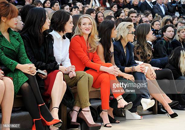 Kim Heesun Vicki Zhao Michelle Dockery Rosie HuntingtonWhiteley Freida Pinto Rita Ora Kate Beckinsale and Lily Mo Sheen sit in the front row for the...