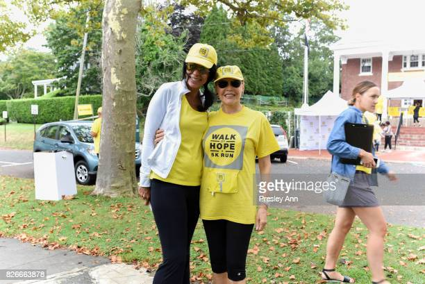 Kim Heirston and Audrey Gruss attend Hope for Depression Research Foundation's Walk of Hope 5K Run at Southampton Cultural Center on August 5 2017 in...