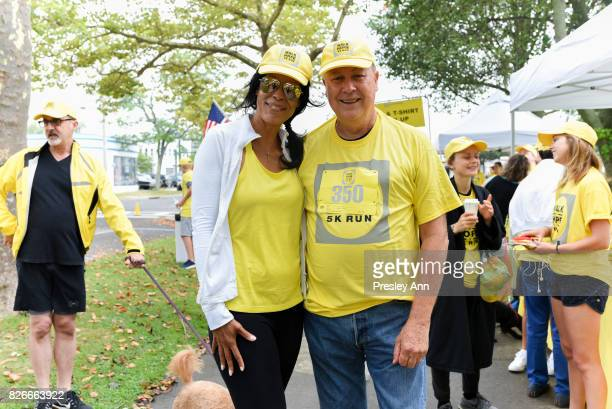 Kim Heirston and Robert Wilson attend Hope for Depression Research Foundation's Walk of Hope 5K Run at Southampton Cultural Center on August 5 2017...