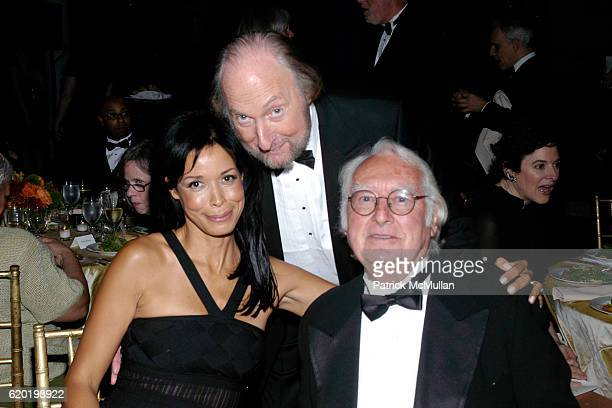 Kim Heirston Ed Victor and Richard Meier attend The PEN American Center's 2008 Literary Gala at American Museum of Natural History on April 28 2008...