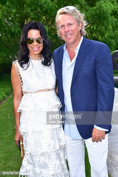Kim Heirston Evans and Richard Evans attend Kickoff for Second Annual Walk of Hope 5K Run at Fairwind on July 21 2017 in Southampton New York