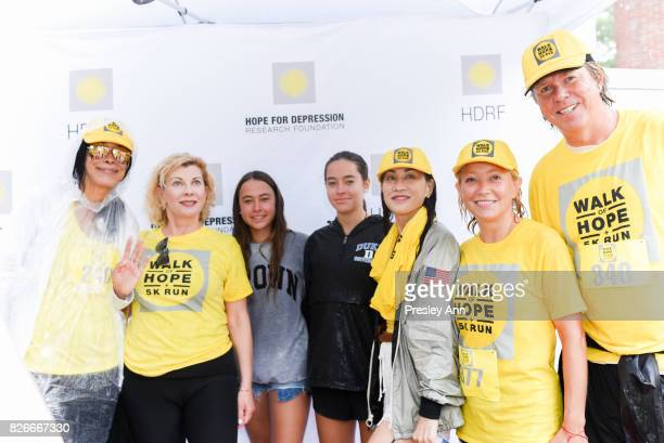 Kim Heirston Paola Bacchini Lucia Hwong Gordon Janna Bullock and Richard Evans attend Hope for Depression Research Foundation's Walk of Hope 5K Run...