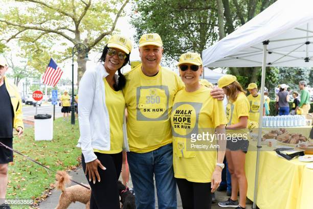 Kim Heirston Robert Wilson and Audrey Gruss attend Hope for Depression Research Foundation's Walk of Hope 5K Run at Southampton Cultural Center on...