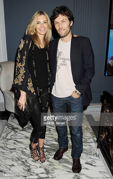 Kim Hersov and Barry Reigate attend a Council Dinner celebrating the launch of Yoko Ono's Serpentine Gallery exhibition 'To The Light' at The Dover...