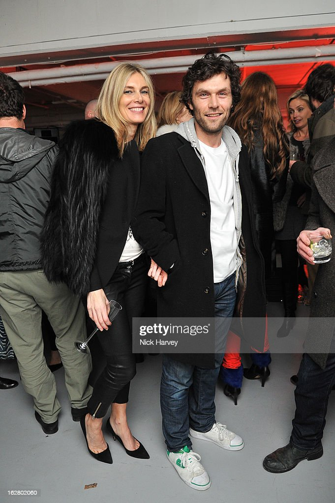 Kim Hersov and Barry Reigate attend the launch of Dinos Chapman's album 'Luftbobler' at The Vinyl Factory Gallery on February 27, 2013 in London, England.