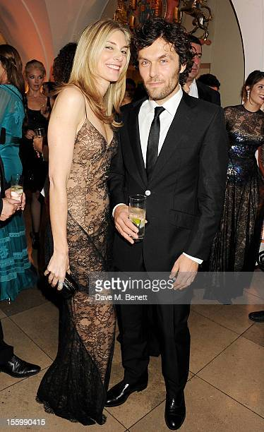 Kim Hersov and Barry Reigate attend the Place For Peace dinner cohosted by Ella Krasner and Forest Whitaker to support the Peace Earth Foundation in...