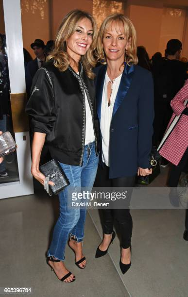 Kim Hersov and Elisabeth Murdoch attend the Private View of 'Centrifugal Soul' by Mat Collishaw at Blain Southern on April 6 2017 in London England