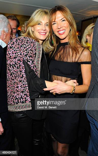 Kim Hersov and Heather Kerzner attend the launch of Kelly Hoppen MBE's new book Design Masterclass at Belgraves Hotel on November 18 2013 in London...