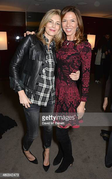 Kim Hersov and Heather Murphy attend a private screening of 'The Gun The Cake and The Butterfly' hosted by director Amanda Eliasch at the Bulgari...