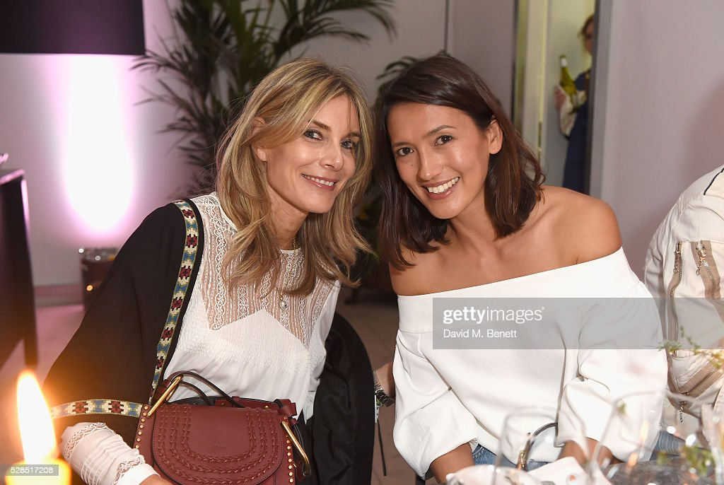 Kim Hersov and Hikari Yokoyama attend a private dinner hosted by M.i.h Jeans to celebrate their 10th anniversary at Brewer Street Car Park on May 5, 2016 in London, England.