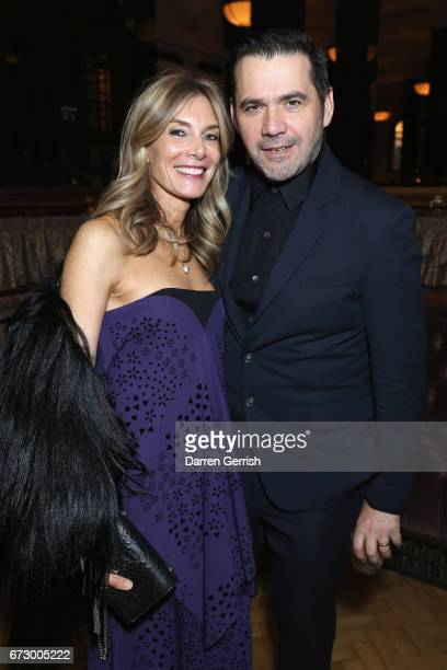 Kim Hersov and Roland Mouret attend Roland Mouret's The Dinner of Love at Cecconi's a preopening dinner at The Ned on April 25 2017 in London England
