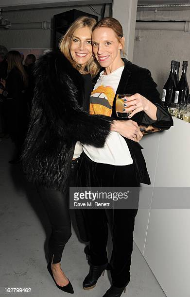 Kim Hersov and Tiphaine de Lussy attend the launch of artist Dinos Chapman's first album 'Luftbobler' at The Vinyl Factory on February 27 2013 in...