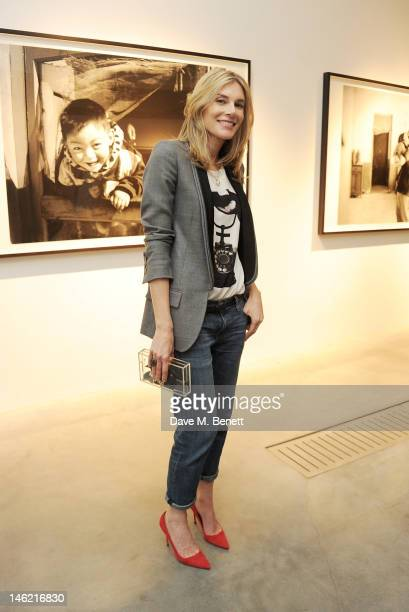 Kim Hersov attends as Vertu and Smile Train launch their first charity handset the Constellation Smile with a private viewing of photographs by Mary...