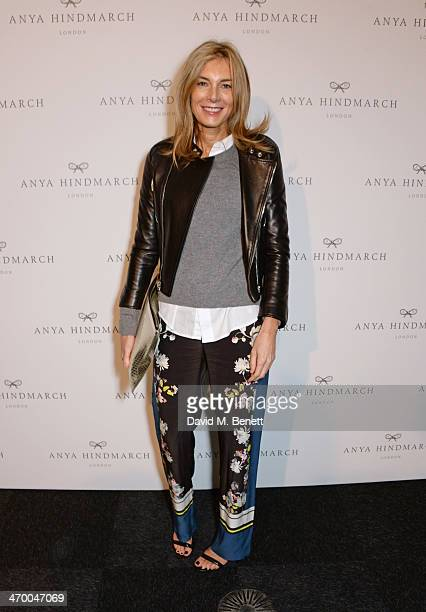 Kim Hersov attends the Anya Hindmarch AW14 show at The Old Billingsgate on February 18 2014 in London England
