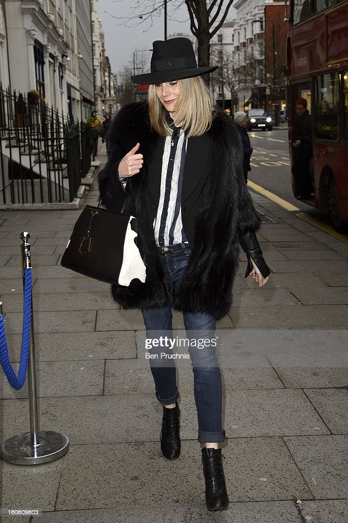 Kim Hersov attends the Smythson of Bond Street's afternoon tea party, celebrating the opening of their new Sloane Street store, on February 6, 2013 in London, England.