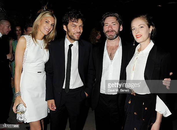 Kim Hersov Barry Reigate Mat Collishaw and Polly Morgan attend the 'Britain Creates 2012 Fashion Art Collusion' VIP Gala drinks reception in...