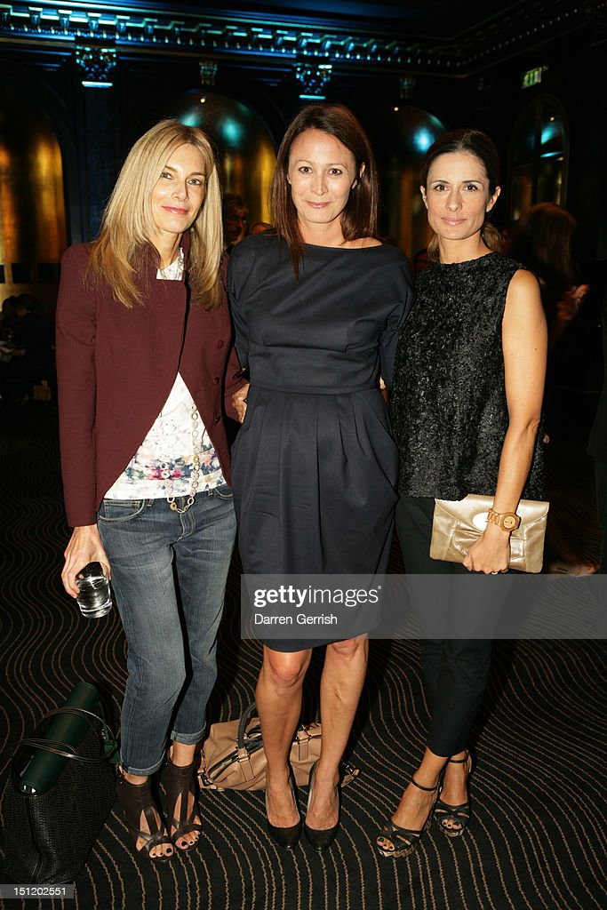 <a gi-track='captionPersonalityLinkClicked' href=/galleries/search?phrase=Kim+Hersov&family=editorial&specificpeople=570326 ng-click='$event.stopPropagation()'>Kim Hersov</a>, Caroline Rush and Livia Firth attends the nominees party for The British Fashion Awards on September 3, 2012 in London, England.
