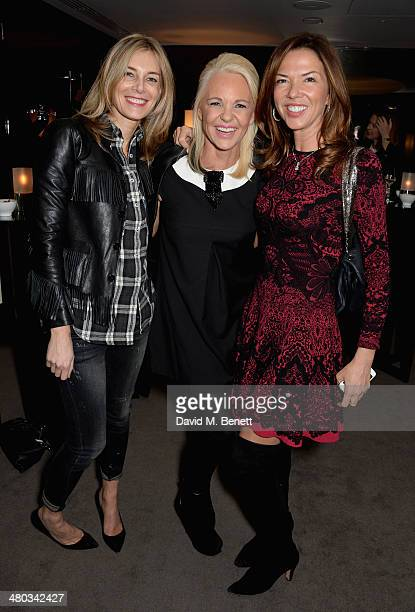 Kim Hersov director Amanda Eliasch and Heather Murphy attend a private screening of 'The Gun The Cake and The Butterfly' hosted by director Amanda...