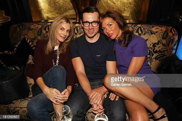 Kim Hersov Erdem Moralioglu and Heather Kerzner attends the nominees party for The British Fashion Awards on September 3 2012 in London England