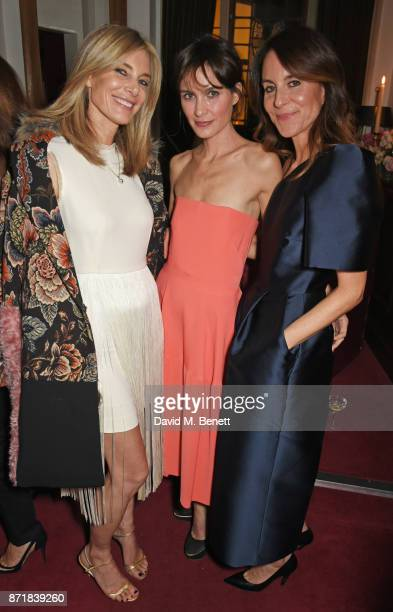 Kim Hersov Sheherazade Goldsmith and Alison Loehnis President NETAPORTER MR PORTER attend a private dinner hosted by NETAPORTER and Stella McCartney...
