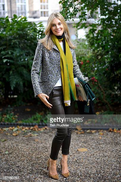 Kim Hersov sighted arriving at the Erdem fashion show during London Fashion Week S/S 2013 on September 17 2012 in London England