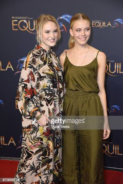 Kim Hnizdo and her sister Nina Hnizdo during the world premiere of the horse show 'EQUILA' at Apassionata Showpalast Muenchen on November 5 2017 in...