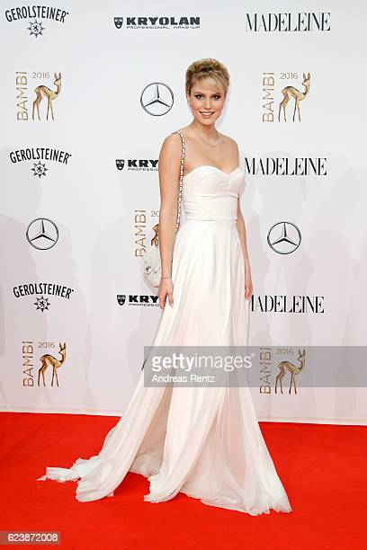 Kim Hnizdo arrives at the Bambi Awards 2016 at Stage Theater on November 17 2016 in Berlin Germany